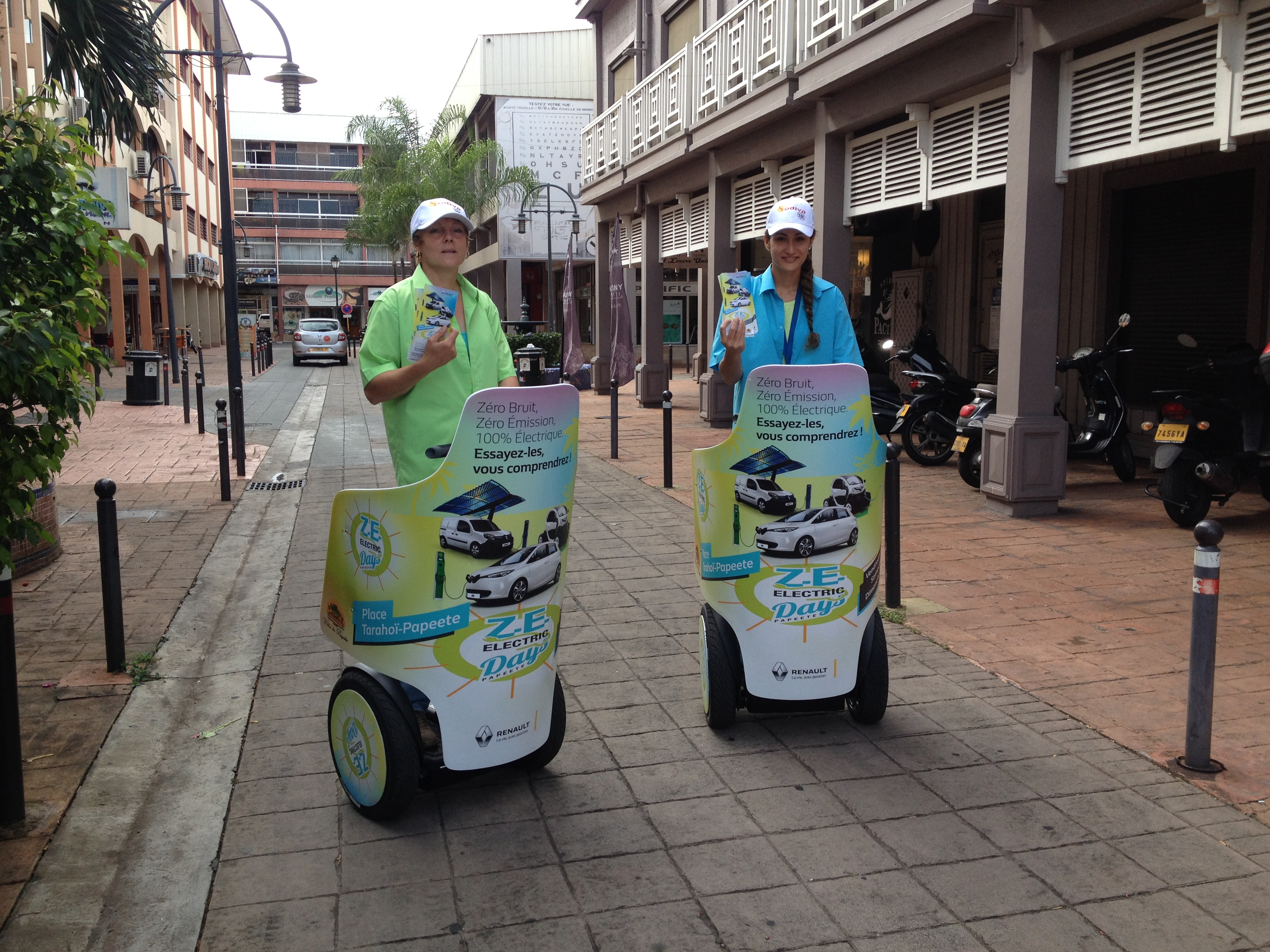 Street Marketing en gyropode Segway à Tahiti
