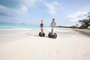 Segway sur les plages de Polynésie