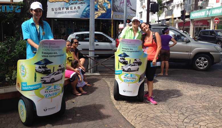Street marketing Sodiva et Segway à Tahiti